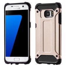 """Tvirtas Apsauginis Dėklas Iš Tpu Ir Pc Plastiko """"Hybrid Armor Rugged"""" Samsung Galaxy S7 Edge G935 Auksinis"""