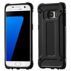 """Tvirtas Apsauginis Dėklas Iš Tpu Ir Pc Plastiko """"Hybrid Armor Rugged"""" Samsung Galaxy S7 Edge G935 Juodas"""