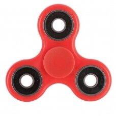 FIDGET SPINNER PLASTIC HAND TRI-SPINNER RED