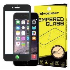 """Grūdintas Apsauginis Stiklas """"Wozinsky Pro+ 5D Full Glue"""" Pritaikytas Dėklui Iphone 6S / 6 Juodas"""