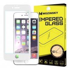 """Grūdintas Apsauginis Stiklas """"Wozinsky Pro+ 5D Full Glue"""" Pritaikytas Dėklui Iphone 6S / 6 Baltas"""