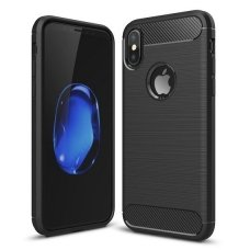 "Lankstus Tpu Dėklas ""Carbon Case Flexible"" Iphone Xs / X Juodas"
