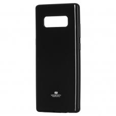 """Silikoninis Dėklas """"Mercury Goospery Jelly Case"""" Samsung Galaxy Note 8 N950 Juodas"""