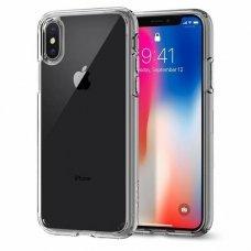 Aukštos Kokybės Dėklas Spigen Ultra Hybrid Iphone X/Xs Crystal Clear