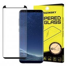 "APSAUGINIS PILNAI DENGIANTIS STIKLAS ""WOZINSKY TEMPERED GLASS 5D FULL GLUE "" SAMSUNG GALAXY S8 G950 JUODAS - CASE FRIENDLY UCS010"