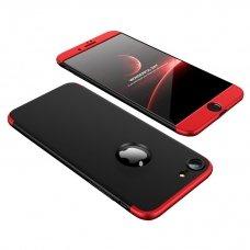 """Dviejų Dalių Plastikins Dėklas Apsaugantis Priekį Ir Galą """"Gkk 360"""" Apple Iphone 8 / 7 Juodas And Raudonas"""