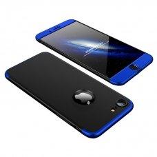 """Dviejų Dalių Plastikinis Dėklas Apsaugantis Priekį Ir Galą """"Gkk 360"""" Apple Iphone 8 / 7 Mėlynas"""