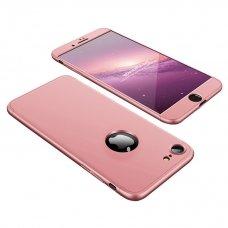 """Dviejų Dalių Plastikinis Dėklas Apsaugantis Priekį Ir Galą """"Gkk 360"""" Apple Iphone 8 / 7 Rožinis"""