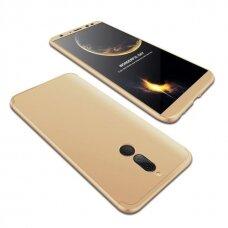 """Dviejų Dalių Plastikins Dėklas Apsaugantis Priekį Ir Galą """"Gkk 360"""" Huawei Mate 10 Lite Auksinis"""