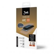 """Pilnai Dengia Ekraną Silikoninė Plėvelė """"3Mk Arc 3D"""" Pilnai Dengia Ekraną Sam G930 S7 Priekis, Galas, Šonai"""