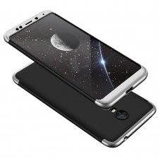 """Dviejų Dalių Plastikins Dėklas Apsaugantis Priekį Ir Galą """"Gkk 360"""" Xiaomi Redmi 5 Plus / Redmi Note 5 (Single Camera) Juodas-Sidabrinis"""