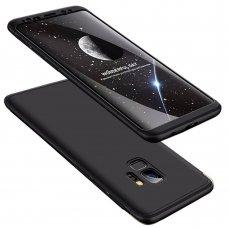 """Dviejų Dalių Plastikinis Dėklas Apsaugantis Priekį Ir Galą """"Gkk 360"""" Samsung Galaxy S9 G960 Juodas"""