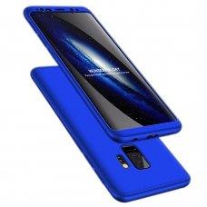 """Dviejų Dalių Plastikinis Dėklas Apsaugantis Priekį Ir Galą """"Gkk 360"""" Samsung Galaxy S9 Plus G965 Mėlynas"""