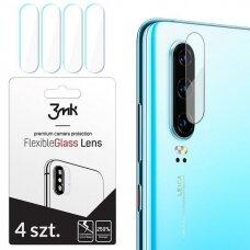 """Hibridinis Apsauginis Stiklas Objektyvui """"3Mk Flexi Lens"""" Huawei P30  4 Vnt."""