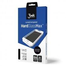 """Itin Tvirtas Apsauginis Stiklas """"3Mk Hard Glass Max"""" Fullglue Sam Note 9 N960 Juodas, Pilnai Dengia Ekraną Fullglue"""