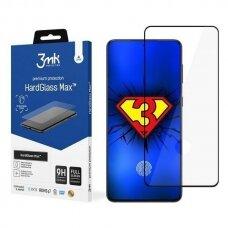 3MK pilnai ekraną dengiantis apsauginis stiklas HardGlass Max FP Sam G996 S21+ juodais kraštais
