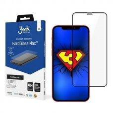 3MK HardGlass Max apsauginis stiklas iPhone 12 Mini juodais kraštais