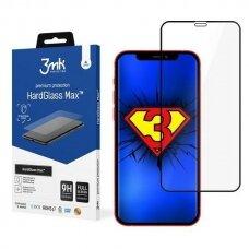 3MK HardGlass Max tvirtas apsauginis stiklas iPhone 12 Pro Max  juodais kraštais