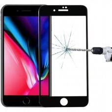 3MK HardGlass Max pilnai dengiantis apsauginis stiklas iPhone SE 2020 juodais kraštais