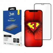 3MK NeoGlass tvirtas apsauginis ekrano stiklas iPhone 12 Pro Max juodais kraštais