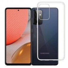 Dėklas 3MK Clear Case Samsung Galaxy A72 telefonui skaidrus