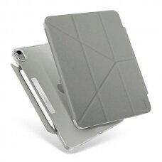 Dėklas atsparus mikrobams UNIQ Camden iPad Air 2020 pilkas