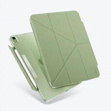 Dėklas atsparus mikrobams UNIQ Camden iPad Air 2020 žalsvas