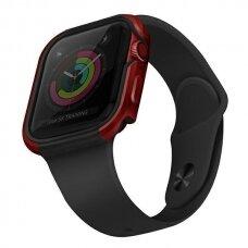 Dėklas UNIQ Valencia Watch 6 40mm / Watch 5 40mm / Watch 4 40mm / Watch SE 40mm laikrodžiams Raudonas
