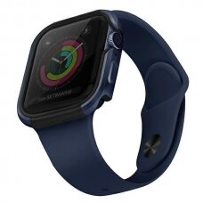 Dėklas UNIQ Valencia Watch 6 40mm / Watch 5 40mm / Watch 4 40mm / Watch SE 40mm laikrodžiams Mėlynas