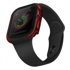 Dėklas UNIQ Valencia Watch 6 44mm / Watch 5 44mm / Watch 4 44mm / Watch SE 44mm laikrodžiams Raudonas