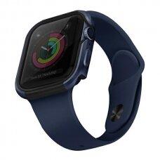 Dėklas UNIQ Valencia Watch 6 44mm / Watch 5 44mm / Watch 4 44mm / Watch SE 44mm laikrodžiams Mėlynas