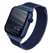 Laikrodžio apyrankė UNIQ Dante Watch 6 44mm / Watch 5 44mm / Watch 4 44mm / Watch SE 44mm laikrodžiams Mėlyna
