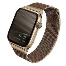 Laikrodžio apyrankė UNIQ Dante Watch 6 44mm / Watch 5 44mm / Watch 4 44mm / Watch SE 44mm laikrodžiams Auksinė