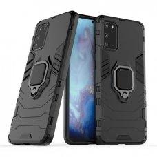 """Apsauginis dėklas su žiedu """"Ring Armor Rugged"""" Samsung Galaxy S20 Plus juodas"""
