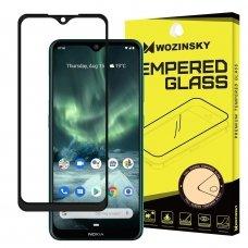 """Apsauginis Pilnai Dengiantis Stiklas """"Wozinsky Super Tough"""" Nokia 7.2 / Nokia 6.2 Juodais Kraštais"""