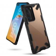 """APSAUGINIS PLASTIKINIS DĖKLAS """"RINGKE FUSION X DURABLE"""" Huawei P40 Pro juodas (FUSG0055) (ctz012) UCS069"""