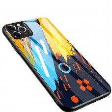 Spalvotas Apsauginis Dėklas Color Glass  Iphone 11 Pattern 1