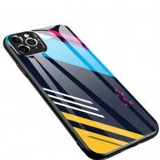 Spalvotas Apsauginis Dėklas Color Glass Iphone 11 Pattern 2
