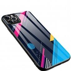 Spalvotas Apsauginis Dėklas Color Glass Iphone 11 Pattern 4