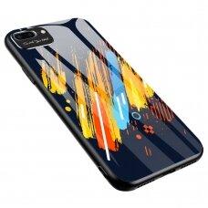 Apsauginis Stiklas Su Galinio Dangtelio Apsauga Ir Kameros Stiklo Apsauga 'Color Glass' Iphone 7/ Iphone 8/ Iphone Se 2020 Raštas 5