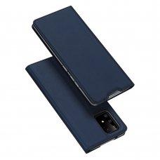 """Atverčiamas dėklas """"DUX DUCIS Skin Pro"""" PU oda Samsung Galaxy S10 Lite mėlynas"""