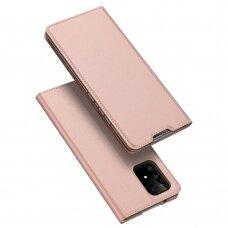 """Atverčiamas dėklas """"DUX DUCIS Skin Pro"""" PU oda Samsung Galaxy S10 Lite rožinis"""