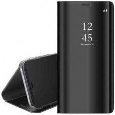"""Atverčiamas Plastikinis Dėklas Permatomu-Veidrodiniu Viršeliu """"Sview"""" Samsung Galaxy S20 Ultra Juodas"""