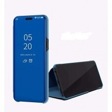 """Atverčiamas Plastikinis Dėklas Permatomu-Veidrodiniu Viršeliu """"Sview"""" Samsung Galaxy S20 Ultra Mėlynas"""