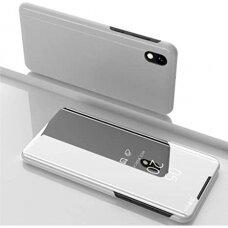 """Atverčiamas Plastikinis Dėklas """"Sview"""" Huawei Y5 2019 / Honor 8S Sidabrinis"""