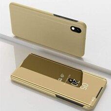 """Atverčiamas Plastikinis Dėklas """"Sview"""" Samsung Galaxy A10 / Galaxy M10 Auksinis"""