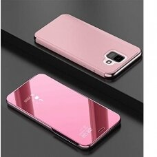 """Atverčiamas Plastikinis Dėklas """"Sview"""" Samsung Galaxy A6 2018 A600 Rožinis"""