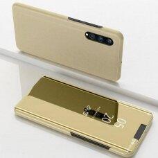 """Atverčiamas Plastikinis Dėklas """"Sview"""" Samsung Galaxy A70 Auksinis"""
