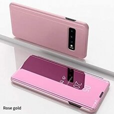 """Atverčiamas Plastikinis Dėklas """"Sview"""" Samsung Galaxy S10 Rožinis"""