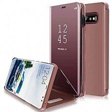 """Atverčiamas Plastikinis Dėklas """"Sview"""" Samsung Galaxy S10E Rožinis"""